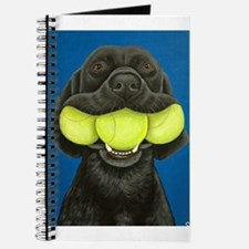Black Lab with 3 tennis balls Journal