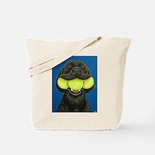 Black Lab with 3 tennis balls Tote Bag
