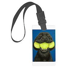 Black Lab with 3 tennis balls Luggage Tag