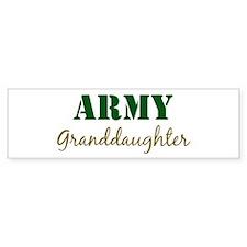 Army Granddaughter Bumper Bumper Bumper Sticker