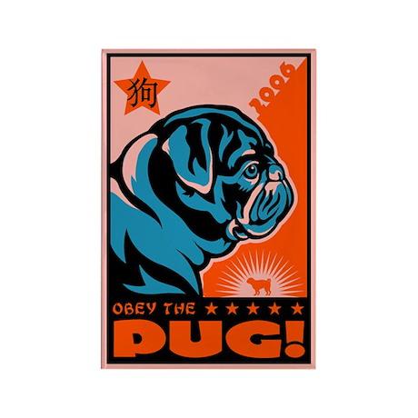 Year of the Black Pug! Propaganda Magnet