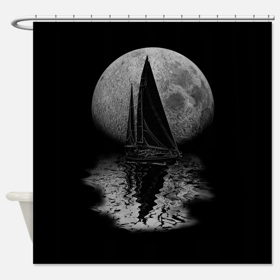 Midnight Sailing Shower Curtain