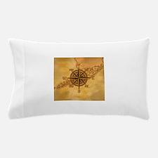 Vintage Compass Rose Pillow Case