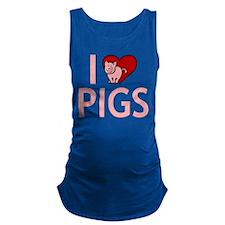 I Love Pigs Maternity Tank Top
