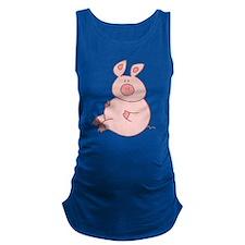 Cute Pig Maternity Tank Top
