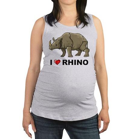 I Love Rhino Maternity Tank Top