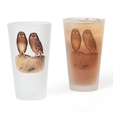 vintage owls Drinking Glass