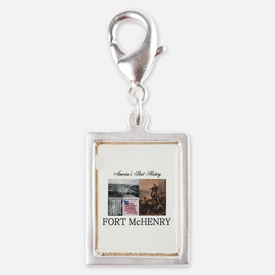 ABH Fort McHenry Silver Portrait Charm