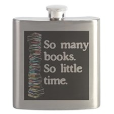 So Many Books---for black backgrounds Flask