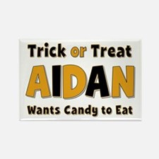 Aidan Trick or Treat Rectangle Magnet