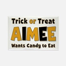 Aimee Trick or Treat Rectangle Magnet