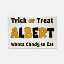Albert Trick or Treat Rectangle Magnet