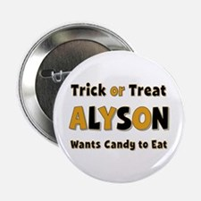 Alyson Trick or Treat Button