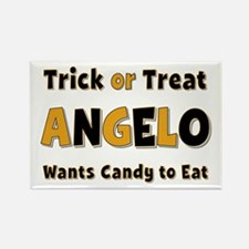 Angelo Trick or Treat Rectangle Magnet
