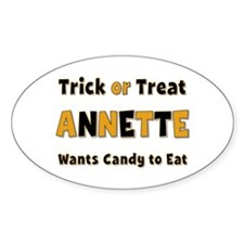 Annette Trick or Treat Oval Decal