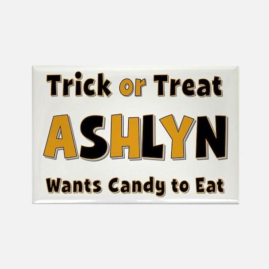 Ashlyn Trick or Treat Rectangle Magnet