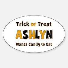 Ashlyn Trick or Treat Oval Decal