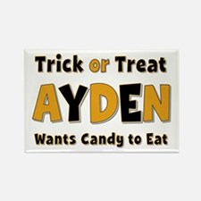 Ayden Trick or Treat Rectangle Magnet