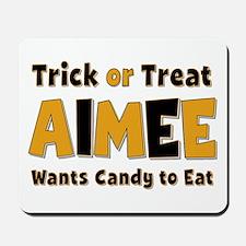 Aimee Trick or Treat Mousepad