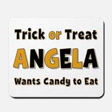 Angela Trick or Treat Mousepad