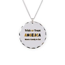 Angelica Trick or Treat Necklace Circle Charm