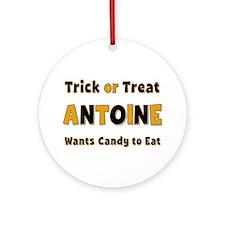 Antoine Trick or Treat Round Ornament