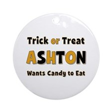 Ashton Trick or Treat Round Ornament