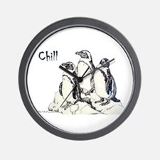 Chill Penguins Wall Clock