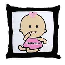 """Baby Isabella"" Throw Pillow"
