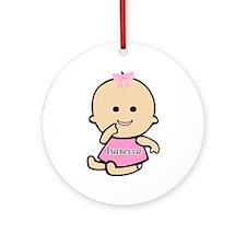 """Baby Isabella"" Ornament (Round)"