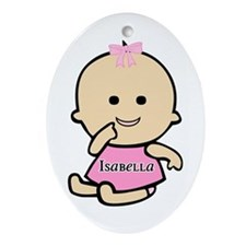 """""""Baby Isabella"""" Oval Ornament"""