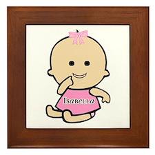"""""""Baby Isabella"""" Framed Tile"""