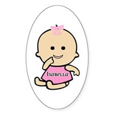 """Baby Isabella"" Oval Decal"