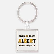Albert Trick or Treat Square Keychain