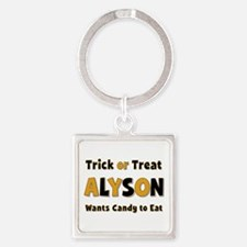Alyson Trick or Treat Square Keychain