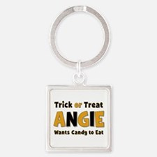Angie Trick or Treat Square Keychain