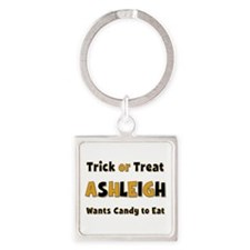 Ashleigh Trick or Treat Square Keychain