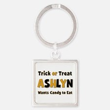 Ashlyn Trick or Treat Square Keychain