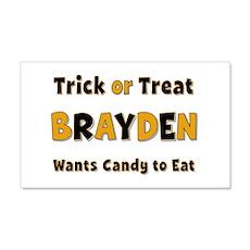 Brayden Trick or Treat 20x12 Wall Peel