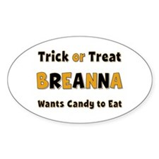 Breanna Trick or Treat Oval Decal