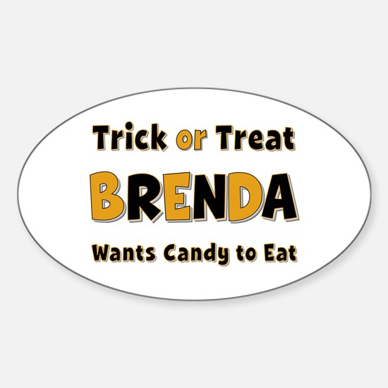 Brenda Trick or Treat Oval Decal