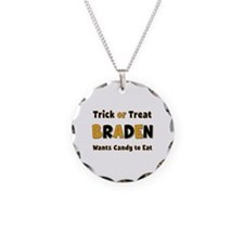 Braden Trick or Treat Necklace Circle Charm