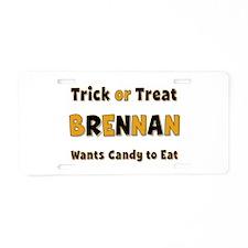 Brennan Trick or Treat Aluminum License Plate