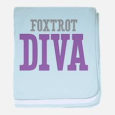 Foxtrot DIVA baby blanket
