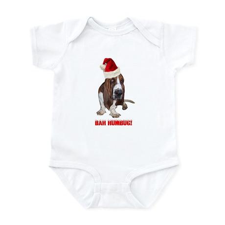 Bah Humbug! Basset Hound Infant Bodysuit