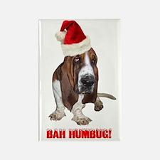 BAH HUMBUG! Basset Hound Rectangle Magnet