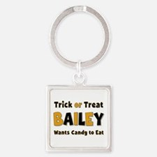 Bailey Trick or Treat Square Keychain