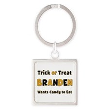 Branden Trick or Treat Square Keychain