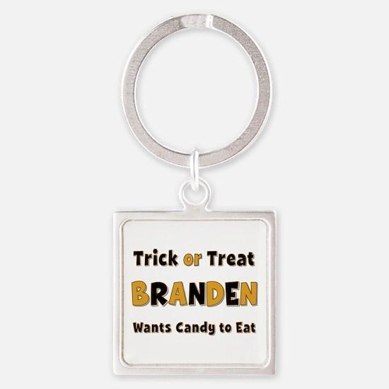 Branden Trick or Treat Square Keychain