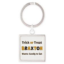 Braxton Trick or Treat Square Keychain